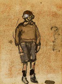 Joan Eardley Boy in a Brown Jersey