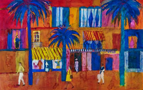 Italian Street Scene by Ann Oram