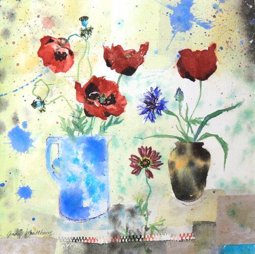 Ladybird Poppies by Jenny Matthews