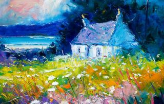 Croft in the autumnlight Gigha by Jolomo