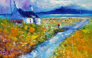Soft Morning Mist Isle of Benbecula by John Lowrie Morrison