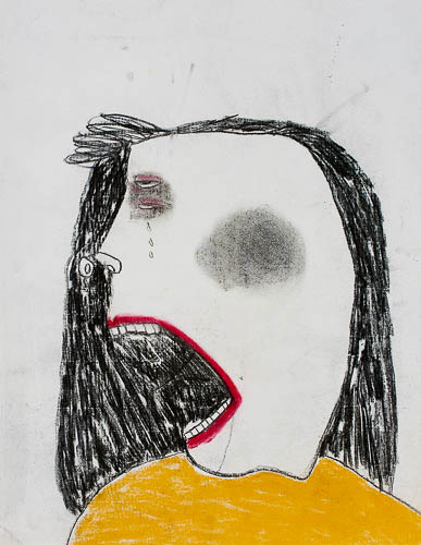 Crying Woman by Pat Douthwaite