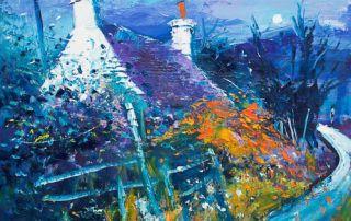 Moonrise at Duart Isle of Mull by Jolomo