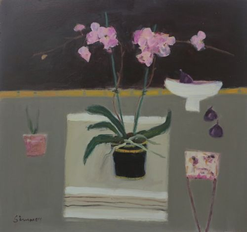 Orchid with Figs by Connie Simmers