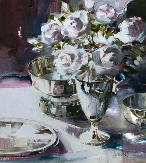 Ethel Walker Painting - Silver