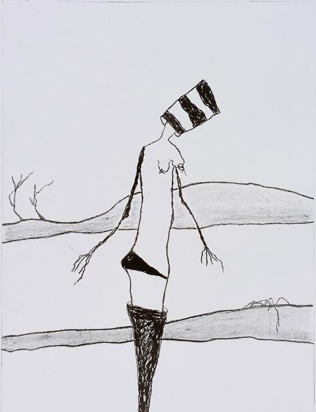 Pat Douthwaite Nude in a Landscape