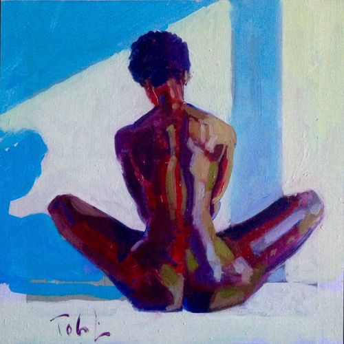 Seated Nude by Toby Mulligan