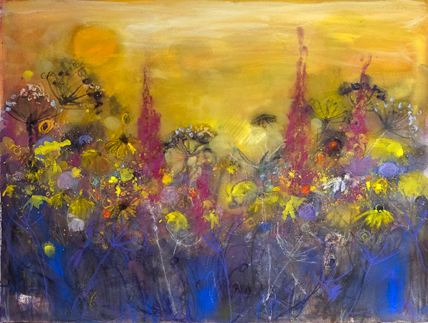 Painting September Field Edge by Ann Oram
