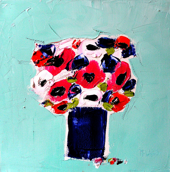 Anemones in Blue Pot by Alison McWhirter
