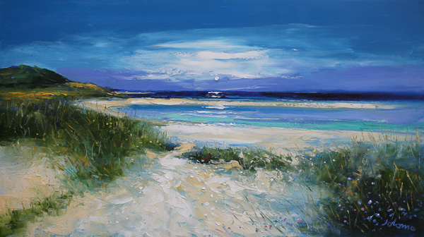 Ardroil Beach Isle of Lewis 18 x 32 ins £4,800