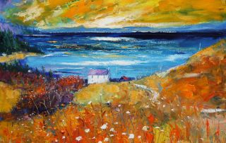 Autumnlight over Lagg Isle of Jura looking to Knapdale by John Lowrie Morrison