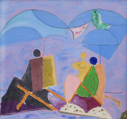 Beach brollies by David Michie