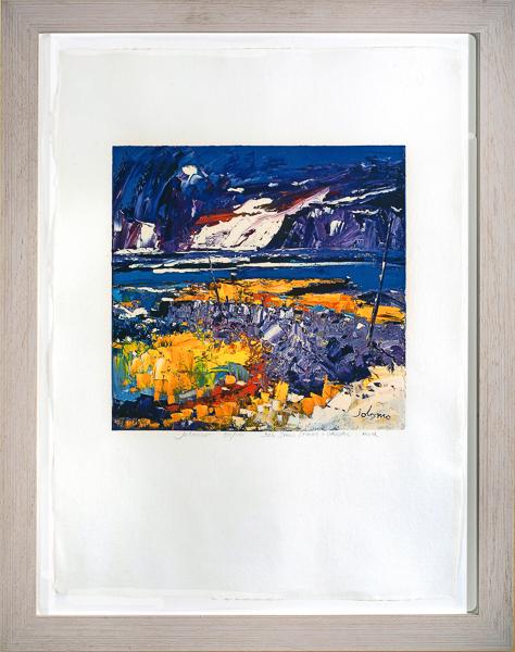 Big snow storm Carsaig Mull by Jolomo framed