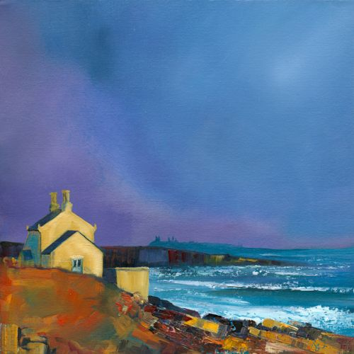 Blazing Sunshine on Sandstone Gable, Bathing House by Ruth Bond
