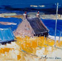 Cottage and the machair by Jolomo