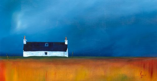 Croft Black Roof Against Brooding Skies by Ruth Bond