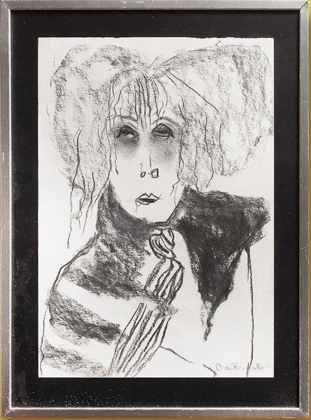Pat Douthwaite Self Portrait Framed