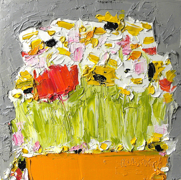 Daisies Sunflowers and Wild Flowers by Alison McWhirter