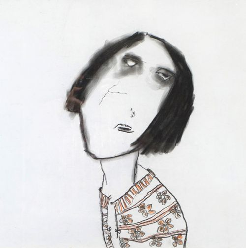 Female head by Pat Douthwaite