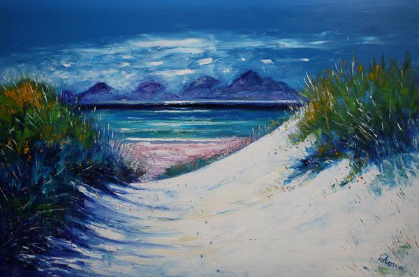 Footprints in the Sand Luskentyre Beach Isle of Harris 40 x 60 ins £14,500