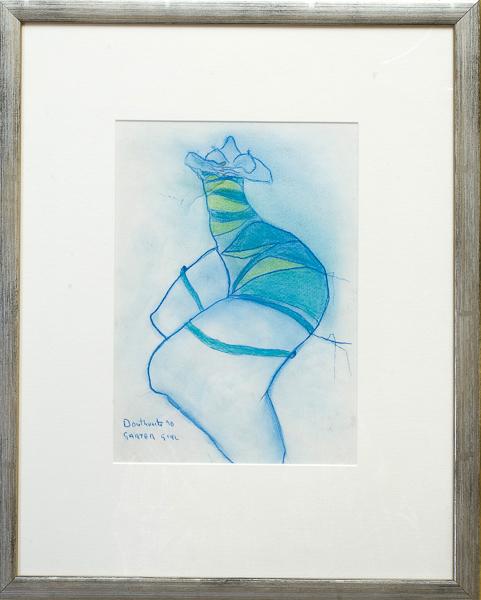 Garter girl by Pat Douthwaite
