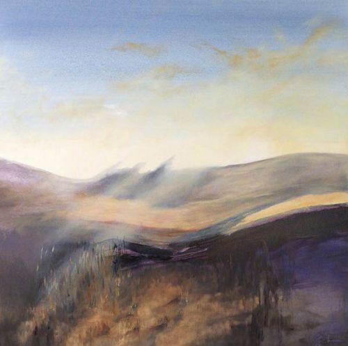 Lammermuir Light by Madeleine Gardiner oil on canvas