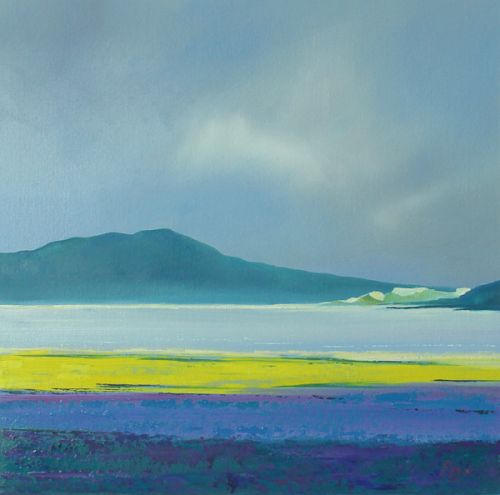 Luskentyre Lowtide Amber Purple Forest - Isle of Harris by Ruth Bond