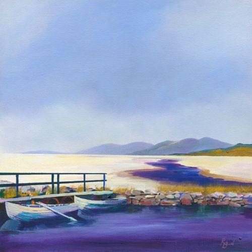 Luskentyre Rowing Boats & Peaty Rivers - Isle of Harris by Ruth Bond