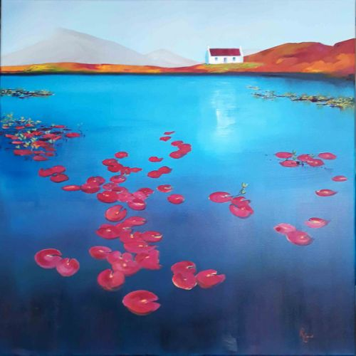 Remote Waters, Unexpected Waterlilies - Uist by Ruth Bond