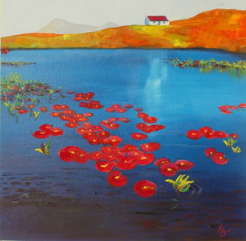 Remote Waters, Unexpected Waterlilies - Uist (Study) by Ruth Bond