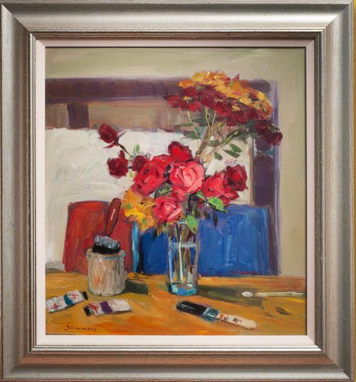 Connie Simmers - Roses in the Studio
