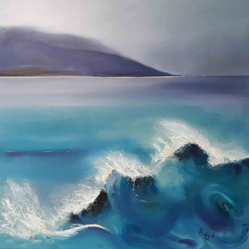 Taransay Turquoise Rollers by Ruth Bond