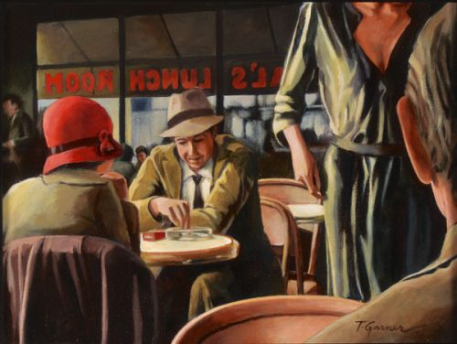 Todd Garner AL'S LUNCH ROOM 12 x 16 inches