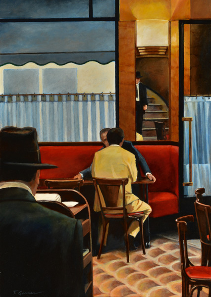 Todd Garner IN A CORNER cafe 30 x 24 inches