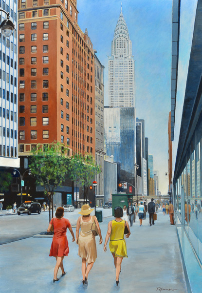 Todd Garner ON THE TOWN 39 x 28 inches