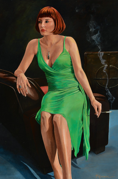 Todd Garner RED IN GREEN 47 x 32 inches