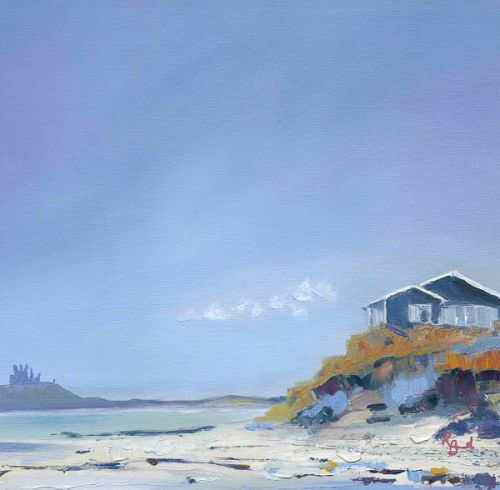 Walk from Alnmouth to Bamburgh - Beach hut, Low Newton by Ruth Bond