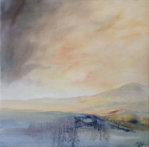Light behind the hills by Madeleine Gardiner
